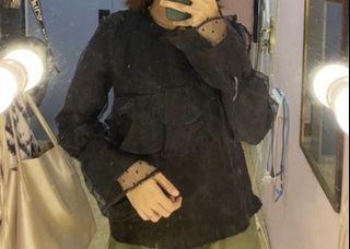 black blouse organza