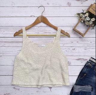 Cream Knit Croptop ❤️