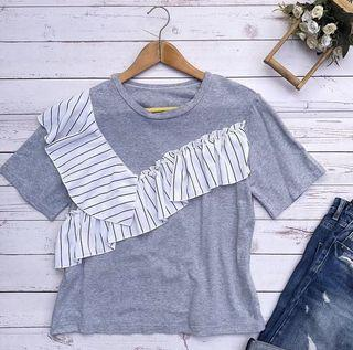 Gray Korean Inspired Blouse ❤️