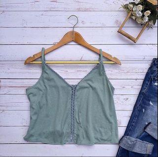 Green Crop Top ❤️
