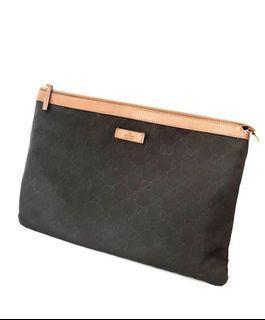 Gucci pochete black nylon 30x20cm