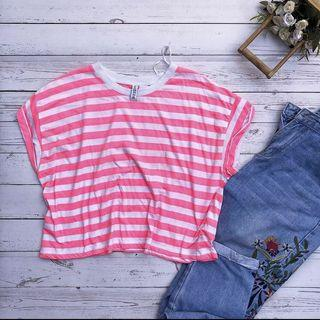 H&M Divided Stripes Crop Top ❤️