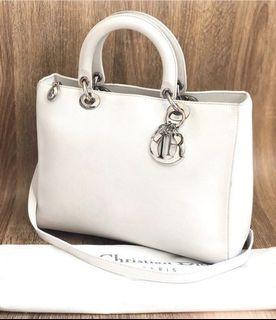 Lady dior leather with strap n db
