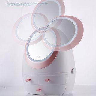 LED mirror Stoorage Cosmetic Organizer