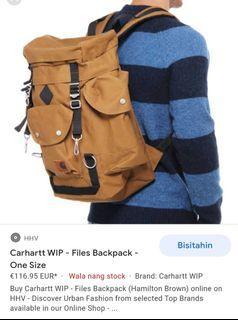 Original Carhartt WIP Files Backpack