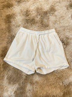 Shein White Drawstring Shorts