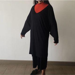UNIQLO black loose dress