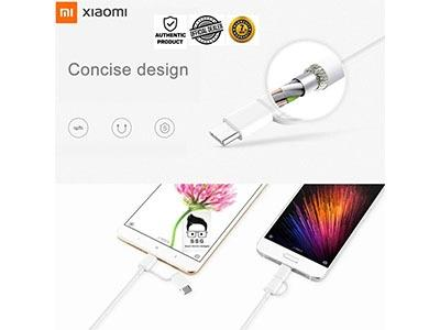 Xiaomi 2-in-1 USB Cable Micro USB to Type-C with 7days local warranty 30cm