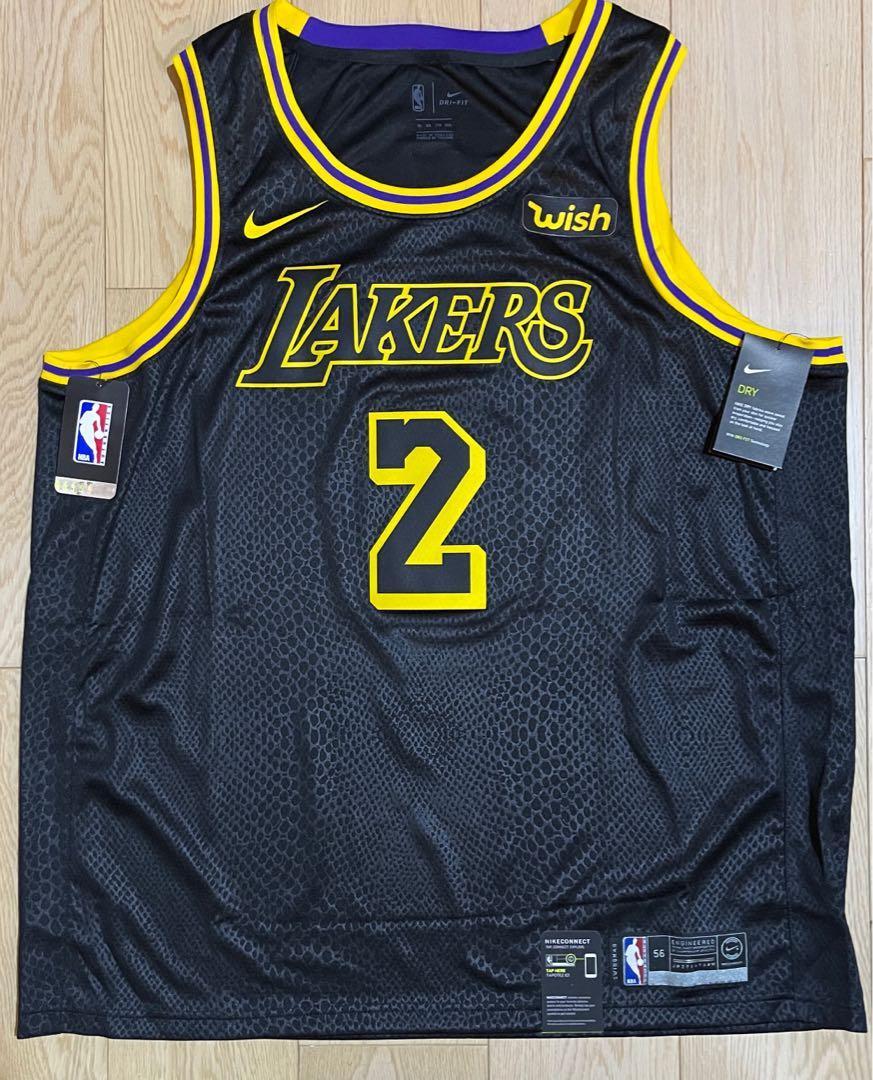 Nike NBA Lonzo Ball Lakers City Jersey Kobe Bryant Black Mamba ...