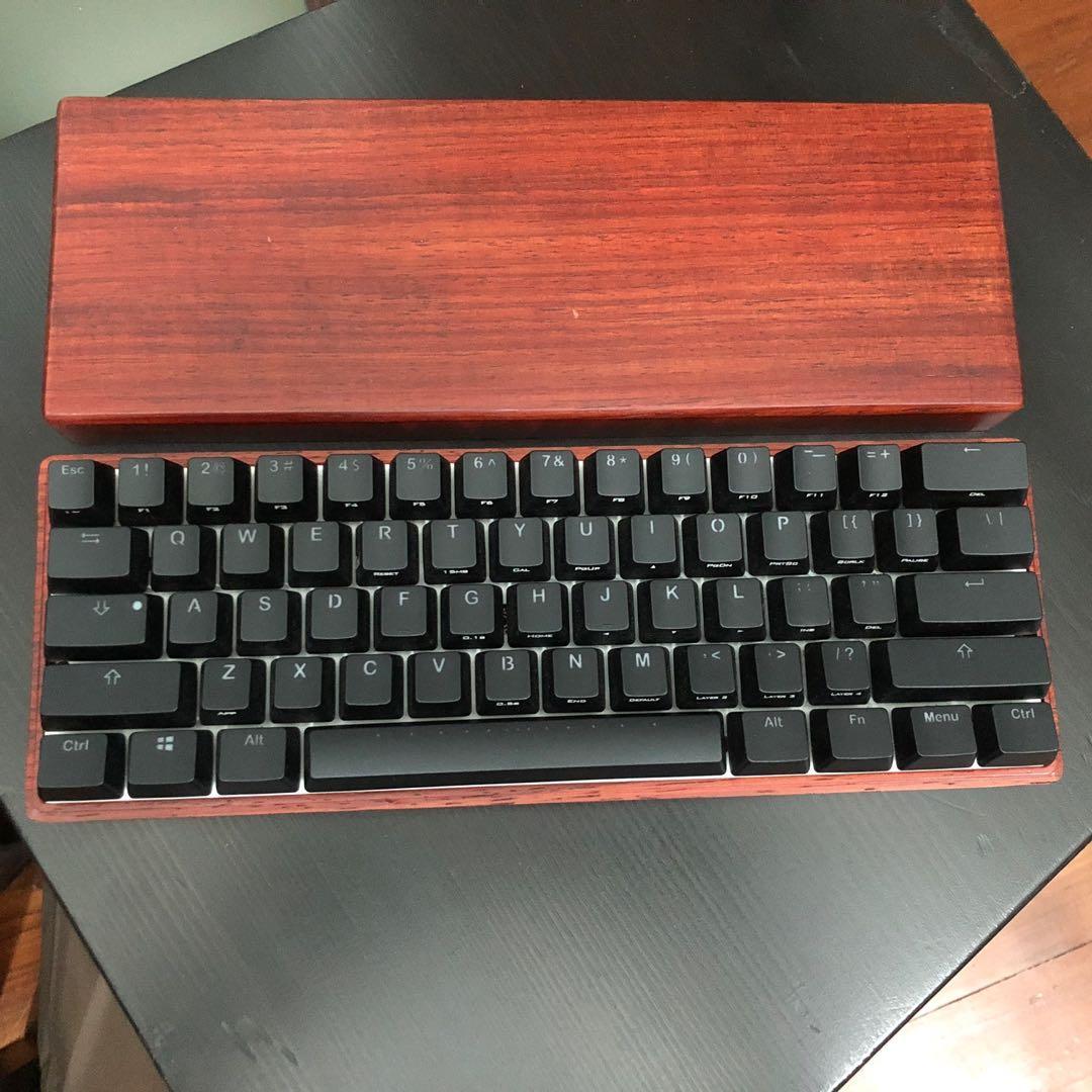 Vortex Pok20r Keyboard Poker20   Cherry Brown with wood case ...