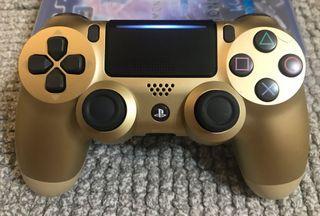 Ps4 DualShock4 二代原廠搖桿-限量版金色(9成新如照片小痕跡無原廠盒)Ps4二代手把非副廠手把