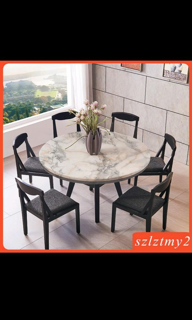 Non Slip Round Table Polyester Cover, Round Table Promosi