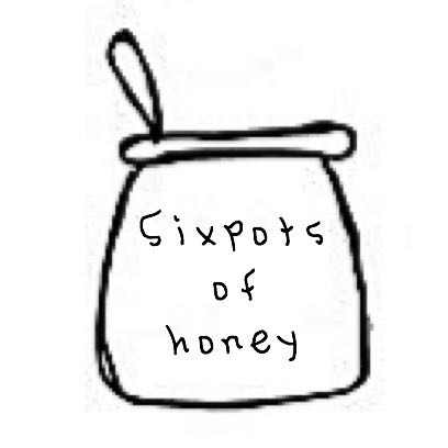 sixpotsofhoney