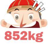 852kg